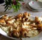 Quaglie con risotto bianco