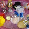 Uova guarnite/tavola pasquale