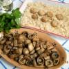 Risotto ai funghi champignon bianchi