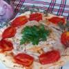 Filetti di merluzzo su letto di pane carasau