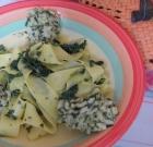 Calma… con pappardelle agli spinaci