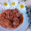 Spezzatino al pomodoro e la sintesi in cucina
